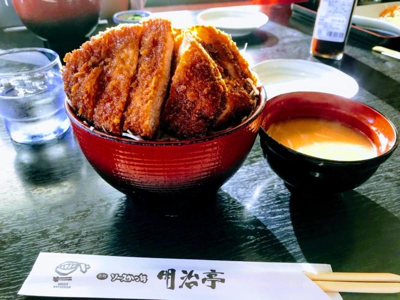 【長野】千畳敷カールの後はご当地グルメ!食べログ100名店にも選出「明治亭」のソースかつ丼!