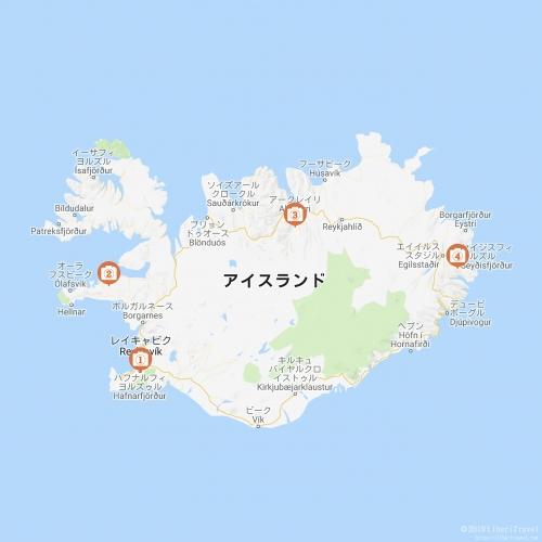 地図 アイス ランド