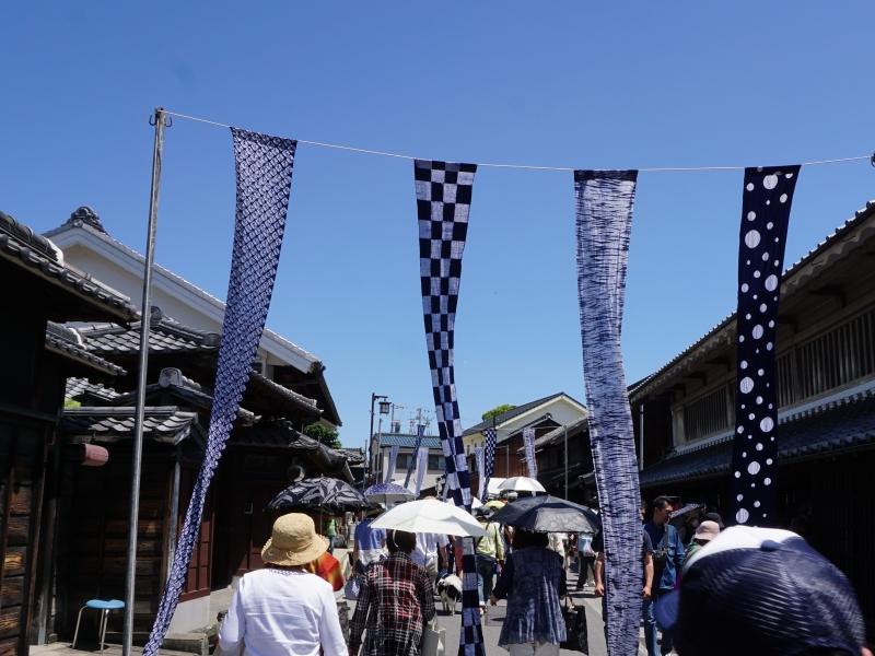 【名古屋・有松】藍染がたなびく日本遺産の街並み