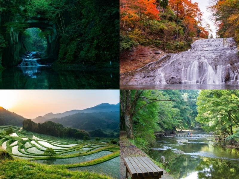 【千葉】大山千枚田・亀岩の洞窟・養老渓谷を1日でめぐる絶景観光モデルコース