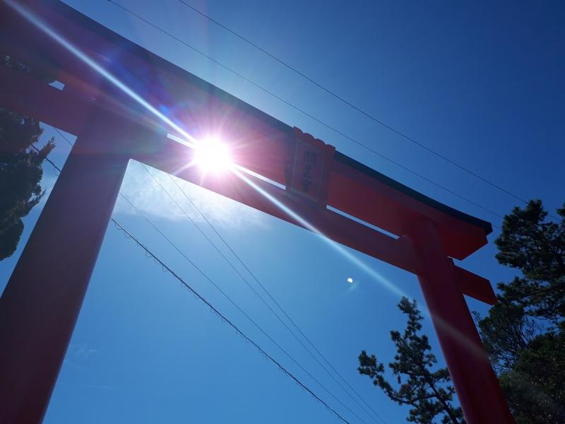 伊勢湾と三河湾を一望する岬に建つ、羽豆神社へのドライブ旅