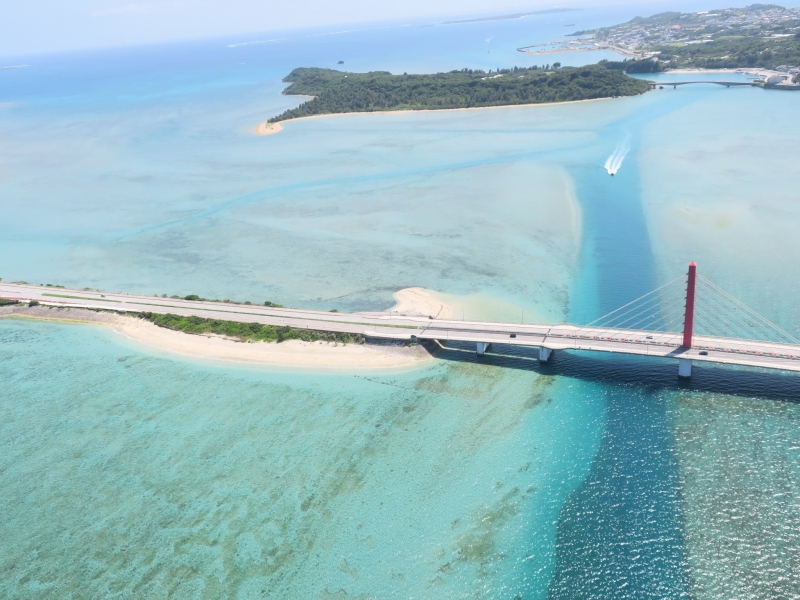 沖縄の絶景!おすすめアクティビティ「モーターパラグライダー」で空を飛ぼう!