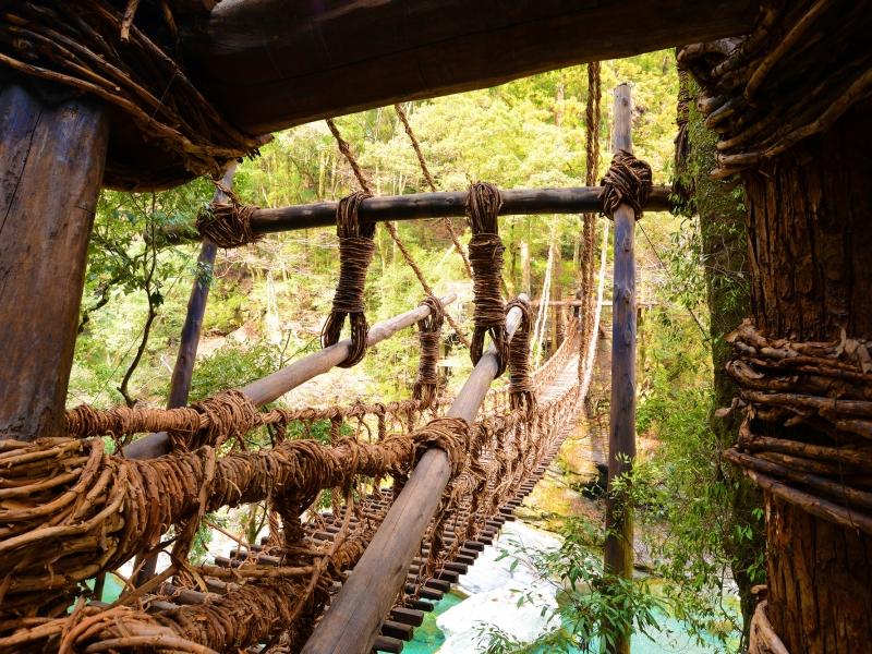 徳島の秘境!祖谷渓にある日本三大奇橋・かずら橋を渡りに行こう