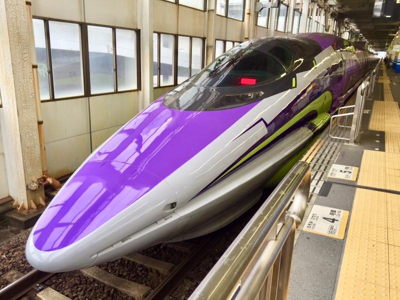 【山陽新幹線】あの人気アニメが新幹線に!500 TYPE EVAに乗ろう