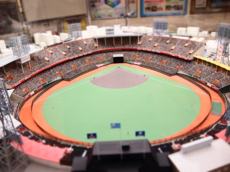 【兵庫】精巧なジオラマで再現!西宮ガーデンズの中の小さな西宮球場
