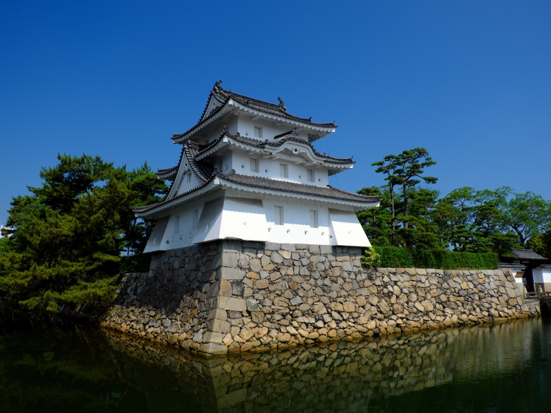 お城が見えます波の上!日本三大水城のひとつ【香川】高松城