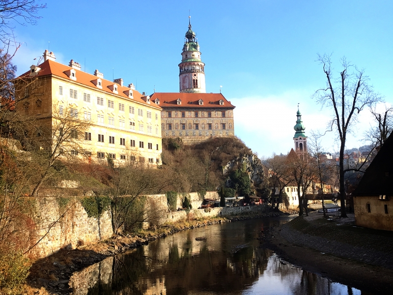チェスキー・クルムロフ城の地図   チェコ観光